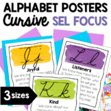 Character Education Cursive Alphabet Posters