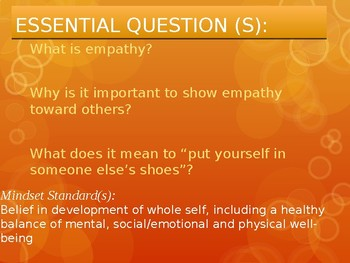Character Education: Developing Empathy