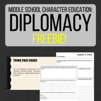 Character Education: Diplomacy FREEBIE