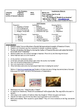 Character Education ELL S.I.O.P Unit Plan