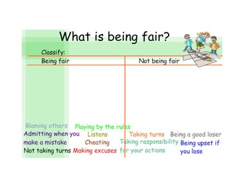 Character Education SmartBoard - Fairness and being fair