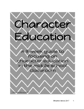 Character Education Guide for the Middle School Student