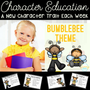 Character Education HUGE Unit- Bumblebee Theme- Posters &