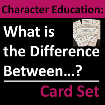 Character Education, Homeroom, and Life Skills Group Activity / Card Set
