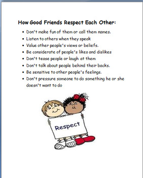 """""""Being a Good Friend"""" lesson plan and 2 Activities"""