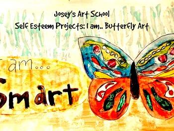 """Character Education """"I am"""" Butterfly Art Preteen Teen Art"""
