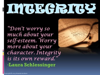 Character Education Lesson: Integrity