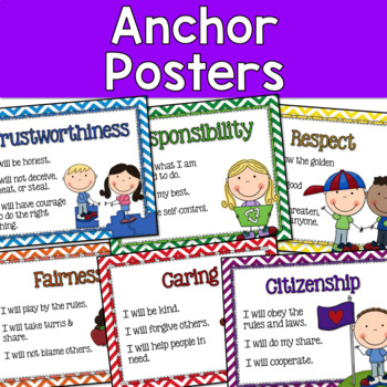 Character Education Interactive Notebook, Posters, and More