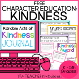 Character Education: Kindness Freebie | Caring Freebie | K