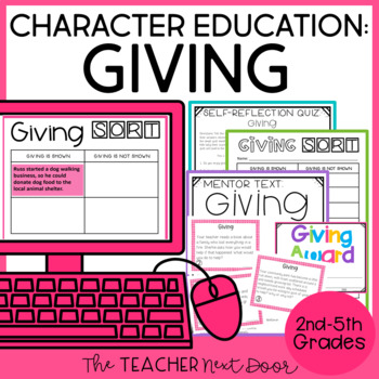 Character Education Kit: Giving for 2nd - 5th Grade