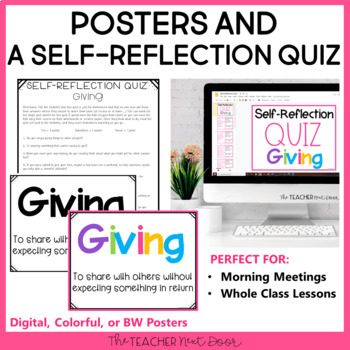 Character Education Kit: Giving for 2nd - 5th Grade |Giving