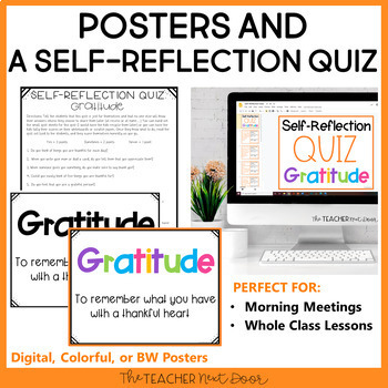 Character Education Kit for 2nd - 5th Grades: Gratitude | Gratitude Activities