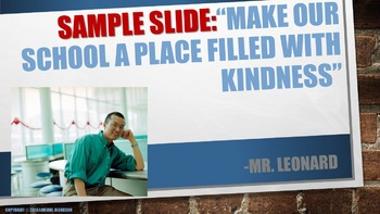 Customizable Character Education Lesson: School Pride, School wide goal setting