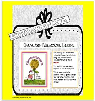 Character Education Lesson Using Chrysanthemum