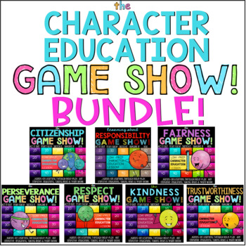 Character Education 7 Lesson Bundle: Responsibility, Respect, Kindness, Fairness