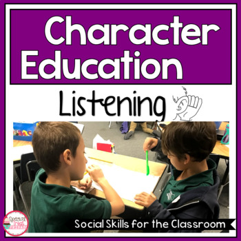 Character Education Activities on Listening for Morning Meetings