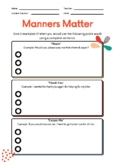 Manners Matter & Being Polite