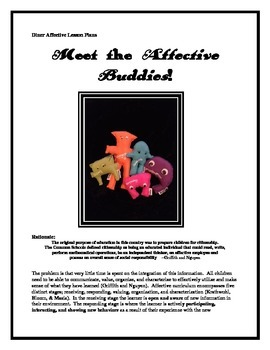 Character Education:  Meet the Affective Buddies & Study Hunger & Being Homeless