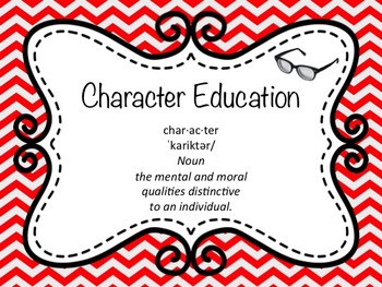 Character Education ( editable ) Monthly Themes Wall Signs Intro Lesson