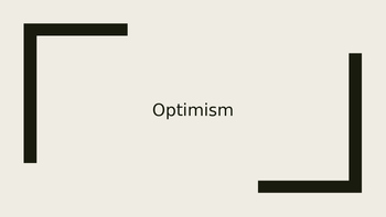 Character Education- Optimism