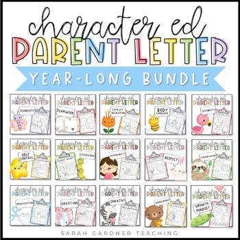 Character Education Parent Letters Bundle