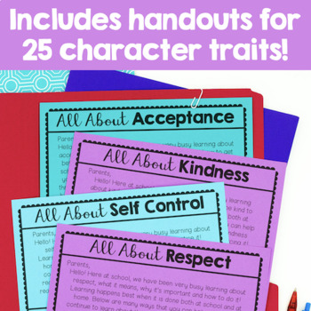 Free Character Education Parent Letters