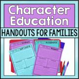 Character Education Parent Letters