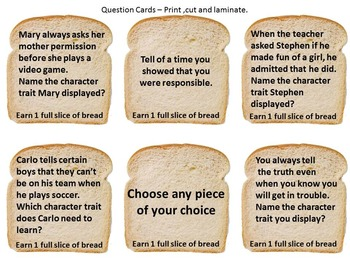 Character Education Peanut Butter and Jelly Game