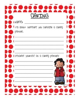 Character Education Pillars: Activity Sheets