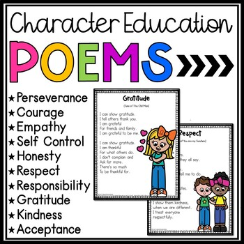 Character Education Poems - Character Trait Poems