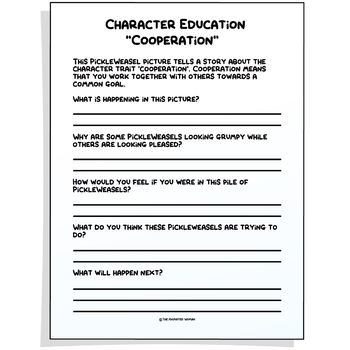 Character Education Poster - COOPERATION