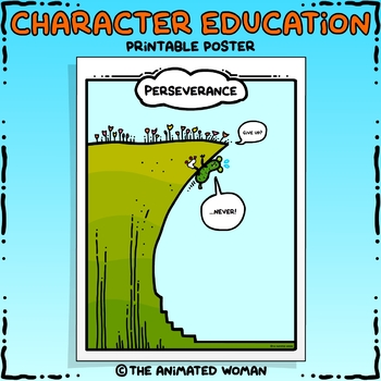 Character Education Poster - PERSEVERANCE
