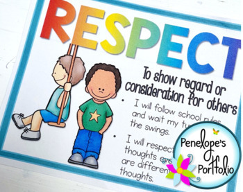 Character Education Posters / Social Skills Posters with 70 Character Traits