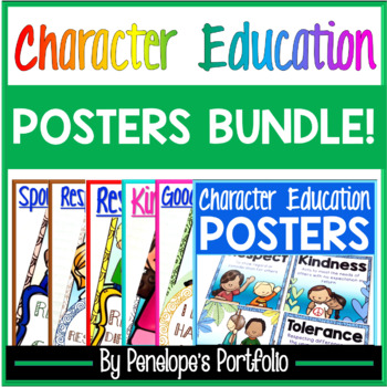 Character Education Posters BUNDLE