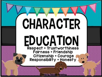 Character Education Posters - DOG THEME - Perfect for any classroom!
