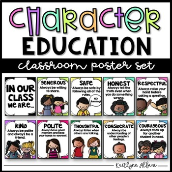 Character Education Posters - In OUR class, we are...