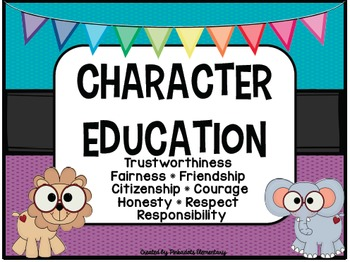 Character Education Posters - JUNGLE THEME - Perfect for any classroom!
