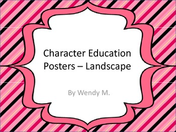 Character Education Posters - Landscape