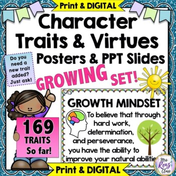 Character Traits Posters and Character Education Posters 96 Traits +Titles +More