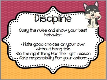 13 Character Education Posters! Perfect for any classroom! Husky/Dog Theme!