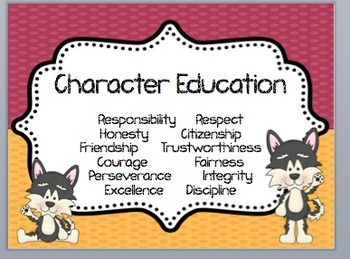 13 Character Education Posters! Perfect for any classroom!