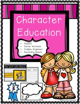 Character Education Posters Puzzles Brag Tags for Classroo