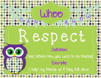 Character Education Posters - Whoo Can Show