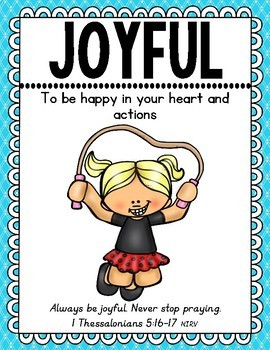 Character Education Posters {With Scripture}