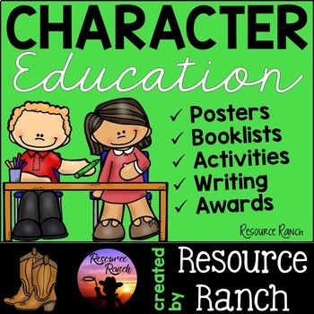 Character Education Posters-Writing-Activities-Awards for
