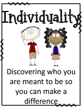 Character Education Posters and Brag Tags