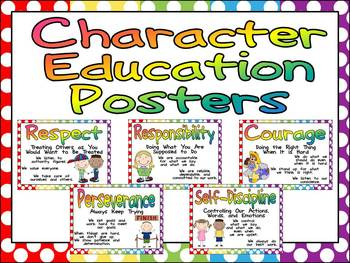 Character Education Posters and Writing Prompts by Melissa Williams