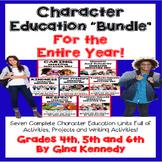 Character Education Bundle For Upper Elementary, Seven Units! BUNDLE!