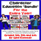 Character Education BUNDLE for Upper Elementary Students, Seven Units!