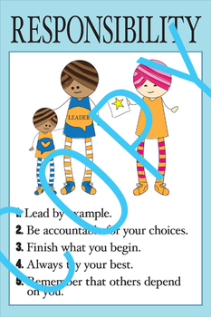 Character Education - RESPONSIBILITY Poster